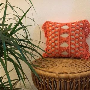 macrame decorative pillow